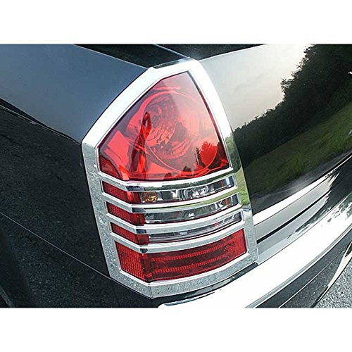 Upgrade Your Auto 2pc. Luxury FX Chrome Taillight Bezels for 2005-2007 Chrysler 300/300C 4DR ()