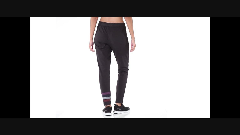 Reebok Womens Mesh Back Jersey Slim Fit Pants (Caviar ...