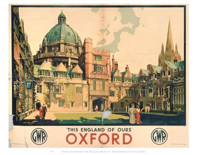 Postcard Pack of 8 This England of Ours Oxford