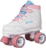 Chicago Girls Sidewalk Roller Skate, White (Size J12)