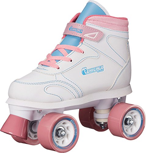 Chicago Girls Sidewalk Roller Skate - White Youth Quad Skates - Size 2