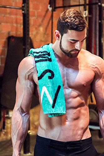 Swol Fitness Sports Fast Drying Gym Towel Antimicrobial and Quick Dry with Ultra Soft Bamboo Naturally Anti Odor for Exercise, Weightlifting, and Sports, Grab Yours Now and Be Our #swolmate