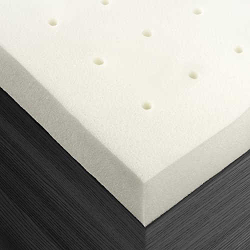 Sleep Restoration Premium Ventilated 2 Inch Memory Foam Mattress Bed Topper Pad, Queen