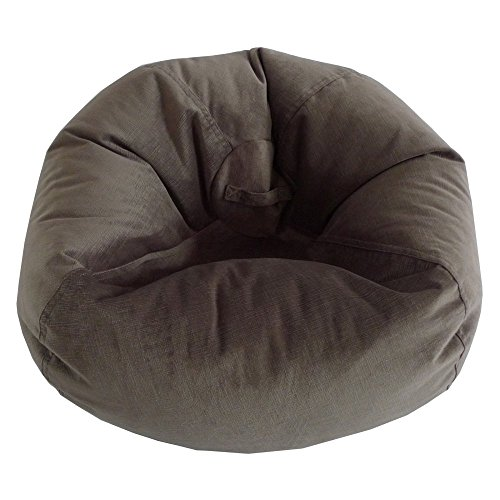 Ace Casual Furniture Large Textured Velvet Bean Bag Chair (Bayou Bag Large Bean)