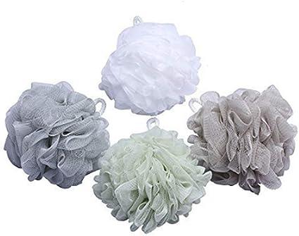 Ducha Esponja Puff suave de baño, baño, baño y ducha esponja de malla de ducha Bola Loofah Esponja, pack de 2: Amazon.es: Belleza