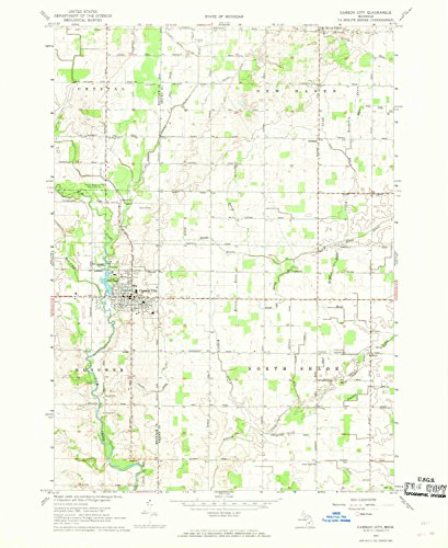Carson City MI topo map, 1:24000 scale, 7.5 X 7.5 Minute, Historical, 1967, updated 1968, 26.9 x 22 IN - Paper (City Old Carson)