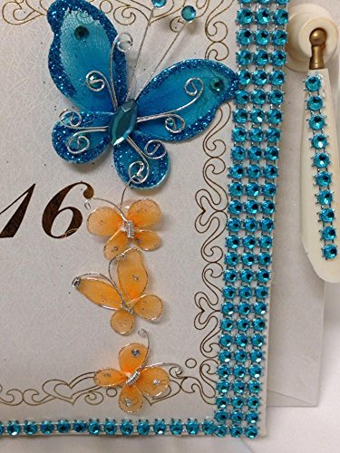 Sweet 16 Butterfly Signature Guest Book Party Keepsake Gift