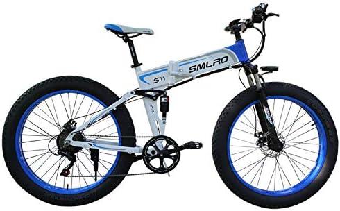 XXCY Bicicleta Plegable,Bicicleta Eléctrica, Neumático De ...