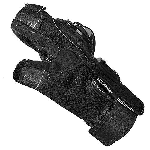 ILM Alloy Steel Bicycle Motorcycle Motorbike Powersports Racing Gloves (XL, HF-BLACK) by ILM (Image #5)