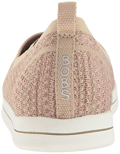 Plush BOBS Stretch Long Skechers Flat Super from Pink Women's Taupe qZwvgIZ