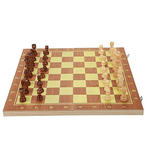 木製 チェスセット29cm 39cm折り畳み式チェス盤チェス盤 チェス駒セット チェスゲーム パーティー 誕生日 プレゼント(39×20×4cm)