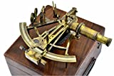 Brass Nautical 6'' Solid Brass Sextant Henry Barrow & Co. London-Marine Gift