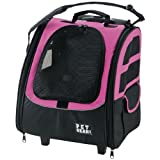 Pet Gear I-GO2 Traveler Roller Backpack for cats and dogs, Pink, My Pet Supplies