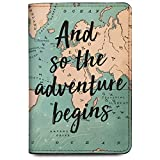 Qrioh Passport Holder Wallet for Men/Women - Adventure Begins