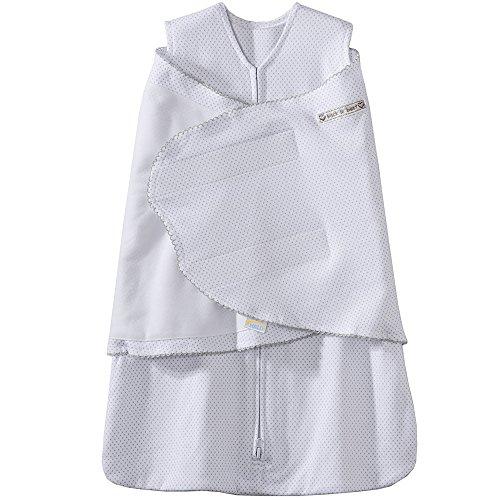HALO Sleepsack 100% Cotton Swaddle, Grey/Pin Dot, Small
