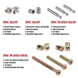 Hilitchi 125 Pcs 3 in 1 Cam Fitting with Dowel and