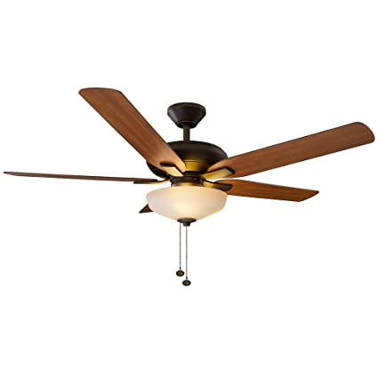 Holly springs led oil rubbed bronze ceiling fan