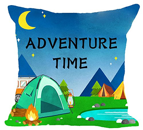 Wild Outdoor Adventure time Camp fire Cotton Linen Square Throw Waist Pillow Case Decorative Cushion Cover Pillowcase Sofa 18