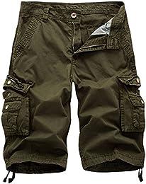 Mens Cargo Shorts Cotton