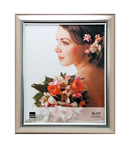 - Kiera Grace Courtney Picture Frame, 8 by 10-Inch, Titanium with Silver Accent