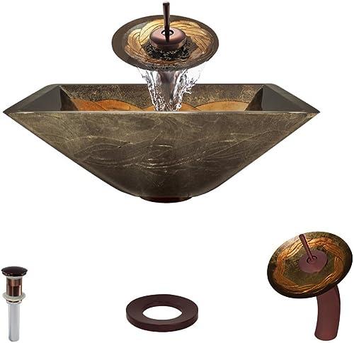 638 Oil Rubbed Bronze Waterfall Faucet Bathroom Ensemble