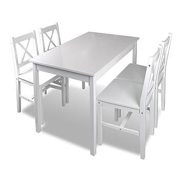 Vidaxl Esstisch Mit 4 Stühle Tisch Holztisch Essgruppe Sitzgruppe