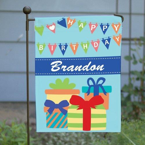 Birthday Boy Double Sided Garden Flag, 12 1/2