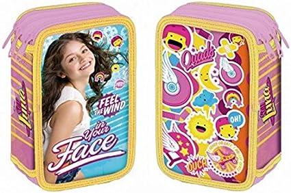 Soy Luna – Estuche escolar Triple con Fournitures scolaires Face soy Luna: Amazon.es: Oficina y papelería