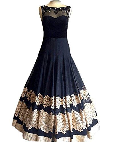 Royal Export Women's Georgette Anarkali Party Wear Gown