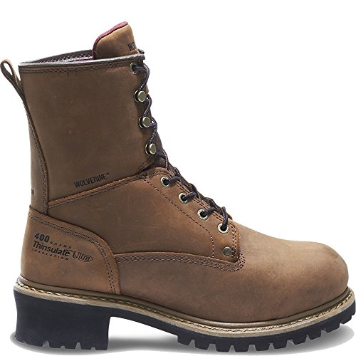 Wolverine Snyder Insulated Waterproof Steel-Toe EH Logger Work Boot Men 9 ()