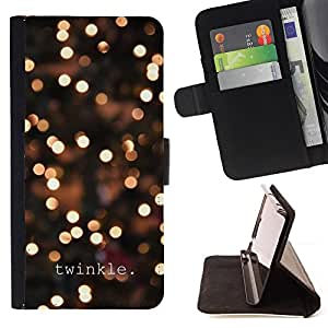 Jordan Colourful Shop - lights winter night lights bright For Apple Iphone 5 / 5S - Leather Case Absorci???¡¯???€????€????????&