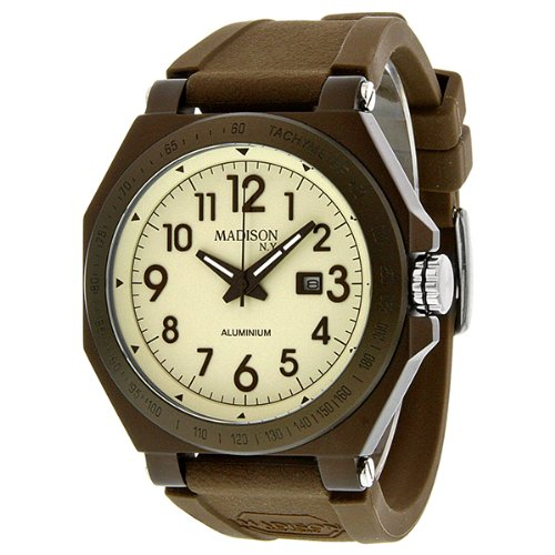 Madison Candy - Madison Candy Time Cream Dial Brown Aluminum Unisex Watch G4452-16
