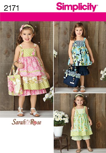 Sewing Patterns 3 - Simplicity Girl's Clothing Dress, Pants, Top, Bag, and Accessories Sewing Patterns, Sizes 3-8