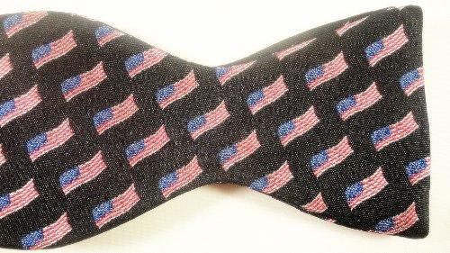Red White & Blue 100% Silk Patriotic Bow Tie