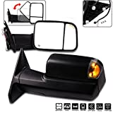 #7: Towing Mirrors, ECCPP High Performance Black A Pair of Exterior Automotive Mirrors for Dodge Ram 1500 2500 3500 2009-2017 with Power Operation-(main glass) Heated Arrow Signal Puddle Light