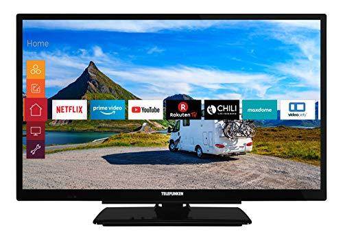 TELEFUNKEN Xf22G501V LED-Televisie, Full HD, Triple Tuner, Smart Tv, Prime Video, 12 V, Alexa, Zwart, 22 Inch / 55 cm