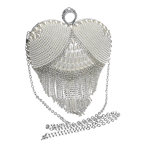 holding foreign ladies bag luxury evening evening Gold trade and bride hand tassel Color Fly exquisite European American dinner Silver banquet bag fashion bag bag aq448p