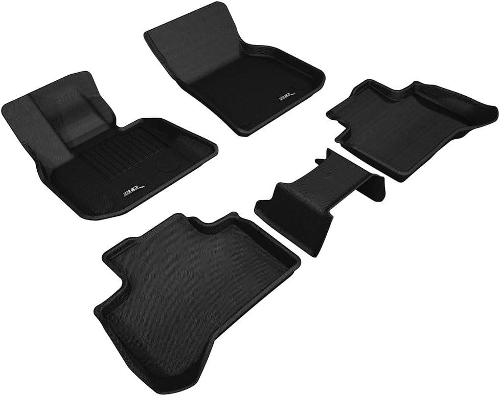 3D MAXpider para BMW I3 2014-2018, Aptas para Todas Las Condiciones Climáticas, Alfombrillas de Goma de Coche (Juego de Alfombras, Color Negro).