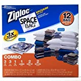 Image of Ziploc Space Bag 12 Vacuum Seal Bags Super Value Pack
