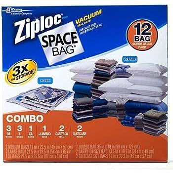 this item ziploc space bag 12 vacuum seal bags super value pack - Vacuum Sealer Bags