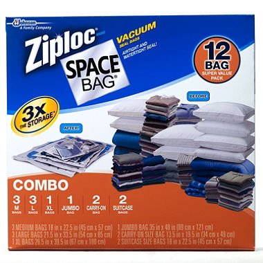 Good Ziploc Space Bag 12 Vacuum Seal Bags Super Value Pack