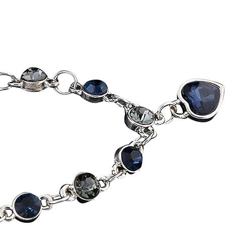 TAOtTAO Kristall Armband Herz Flash Diamond Legierung Schmuck Fuß Ketten  Geburtstagsgeschenke (B)  Amazon.de  Schmuck a4cb7adea6