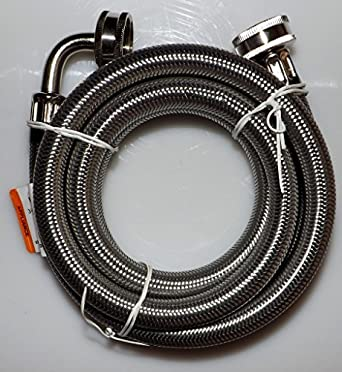 stainless steel washing machine fill hose 6 39 3 4gh x 3 4gh goose neck industrial. Black Bedroom Furniture Sets. Home Design Ideas