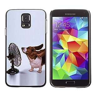 Paccase / SLIM PC / Aliminium Casa Carcasa Funda Case Cover - Basset Hound Funny Small Dog Ears - Samsung Galaxy S5 SM-G900