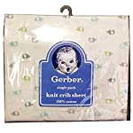 Gerber-Baby-Boys-100-Jersey-Knit-Cotton-Printed-Crib-Sheet-Colorful-Elephants