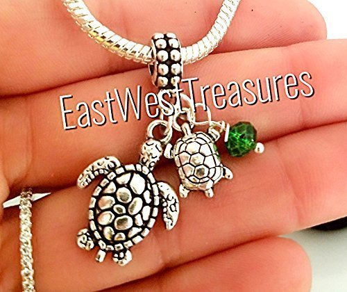 EWT Sea Turtle, Mom and Baby, Mother and child, Mother Daughter son, New Mom, Expecting Mom, Pregnancy news, baby shower gift Charm- fits all DIY bracelets & necklaces