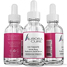 Professional hydration begins with the highest quality Hyaluronic Acid Serum on the market! Aurora Cure's Hyaluronic Acid Serum deeply hydrates and plumps skin to diminish fine lines and wrinkles. This formula leaves skin soft and rejuvenated and bec...