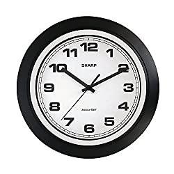 Sharp SPC955 Black Wall Clock