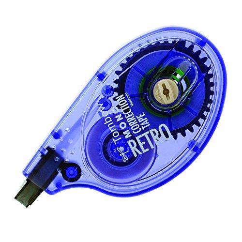 Tombow Classic Mono Correction Tape, Retro Lavender Dispenser, Single Line, White Tape (68675) Copies Correction Fluid