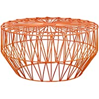 Joveco Rose Gold Birds Nest Metal Round End Table Nesting Coffee Table without Glass Top